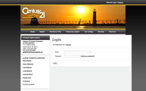 Screenshot of Login Page c21premierproperties.net - C21 PPL Real Estate Search - User Login - captured Oct. 2, 2014