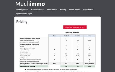 Screenshot of Pricing Page muchimmo.com - Pricing | Muchimmo - captured Feb. 22, 2016