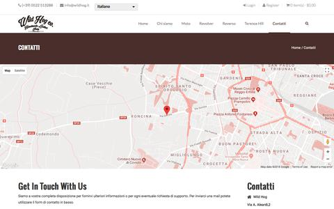 Screenshot of Contact Page wildhog.it - Contatti | Wild Hog - captured March 11, 2018