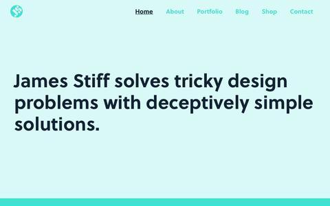 Screenshot of Home Page jamesstiff.com - James Stiff | Design Studio Manchester - captured June 8, 2017