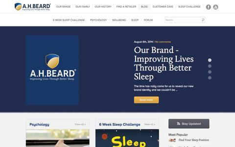 Screenshot of Blog ahbeard.com - AH Beard Blog - captured Sept. 30, 2014