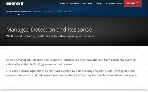Managed Detection and Response™ Overview | eSentire