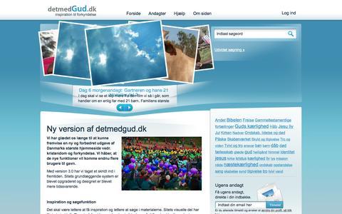 Screenshot of Home Page detmedgud.dk - detmedGud.dk: Det med Gud - captured Sept. 8, 2015