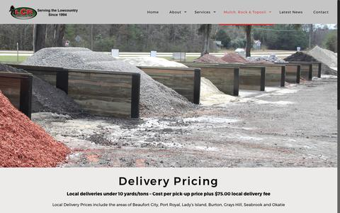 Screenshot of Pricing Page lcrconstruction.net - Pricing - LCR Construction Inc - captured July 8, 2017
