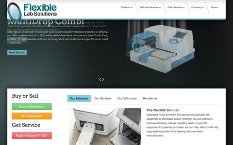 Screenshot of Home Page flexible-lab-solutions.co.uk - Automated Laboratory Equipment - Flexible Lab Solutions - captured Sept. 30, 2014