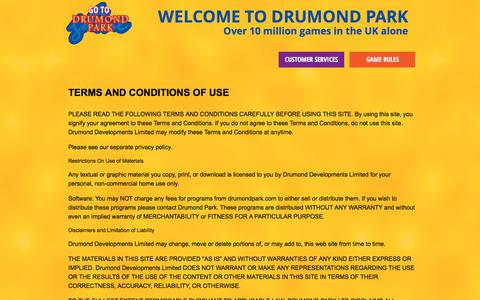 Screenshot of Terms Page drumondpark.com - Contact Drumond Park - captured Oct. 13, 2017