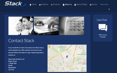 Screenshot of Contact Page stack.co.uk - Contact Us - captured Oct. 6, 2014