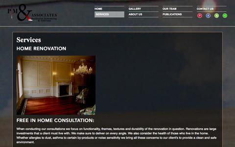 Screenshot of Services Page pmandassociates.net - Services | P|M & Associates - captured Oct. 1, 2014