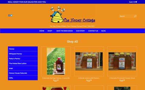Screenshot of Products Page thehoneycottage.com - Products | The Honey Cottage - captured May 10, 2017
