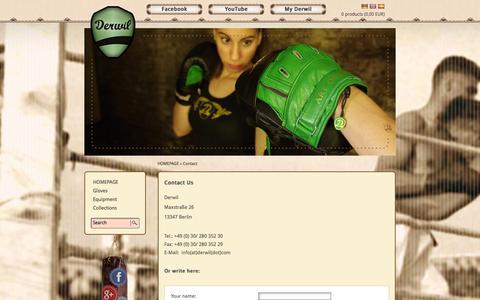 Screenshot of Contact Page derwil.com - Contact - Contact Us - Derwil - captured Sept. 30, 2014