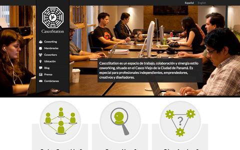 Screenshot of Home Page cascostation.com - CascoStation Coworking para Profesionales Creativos en Panama - captured Sept. 29, 2014