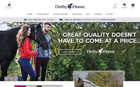 Screenshot of Home Page derbyhouse.co.uk - Equestrian Supplies, Country Clothing & Horse Riding Equipment - captured June 28, 2017
