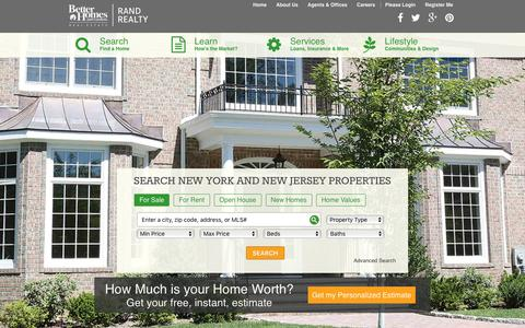 Screenshot of Home Page randrealty.com - Homes for Sale, Real Estate Listings & Apartments for Rent   Rand Realty - captured Oct. 15, 2015