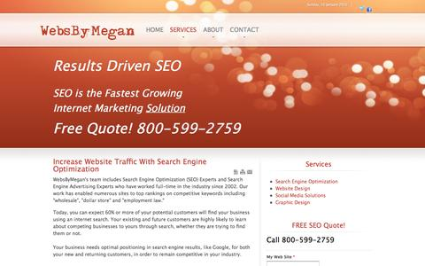 Screenshot of Services Page websbymegan.com - Increase Website Traffic With Search Engine Optimization - captured Jan. 10, 2016