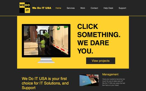 Screenshot of Home Page wedoitusa.com - We Do IT USA | Home Page - captured June 11, 2017