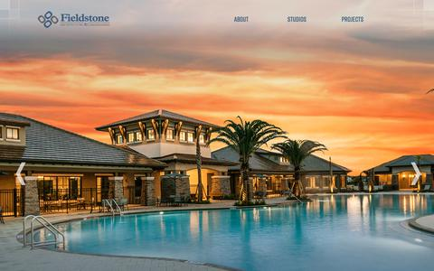 Screenshot of Home Page fieldstoneae.com - Home - captured Oct. 3, 2018