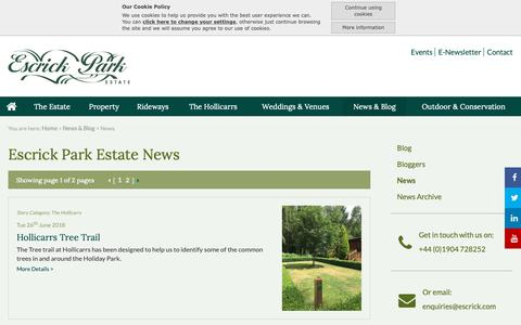 Screenshot of Press Page escrick.com - News:: Escrick - Country Estate, Commercial Property to Let Yorkshire - captured Sept. 29, 2018