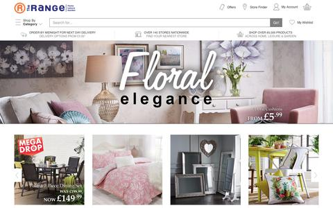 Screenshot of Home Page therange.co.uk - The Range - Furniture, Bedding, Curtains, Crafts, DIY, Garden & More - captured June 29, 2017