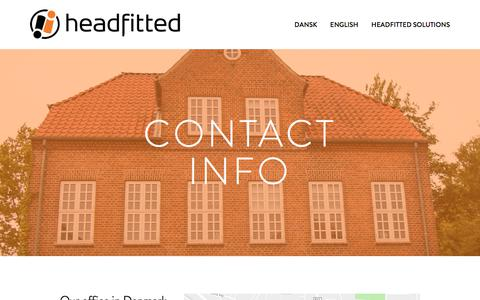 Screenshot of Contact Page headfitted.dk - Contact — Headfitted - captured July 6, 2018