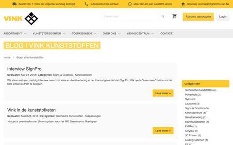 Screenshot of Blog vinkkunststoffen.nl - Blog | Vink Kunststoffen - captured Oct. 18, 2018