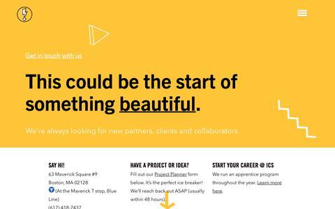 Screenshot of Contact Page icscreative.com - Contact | Image Conscious Studios - captured Oct. 11, 2018