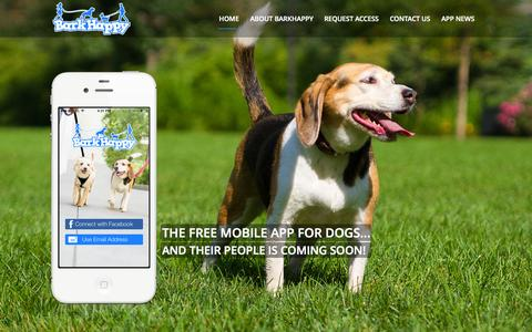 Screenshot of Home Page barkhappy.com - BarkHappy Home - BarkHappy - captured Jan. 24, 2015