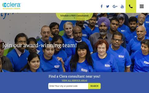 Screenshot of Jobs Page clerawindows.com - Career Opportunities   Clera Windows + Doors Toronto - captured Sept. 28, 2018