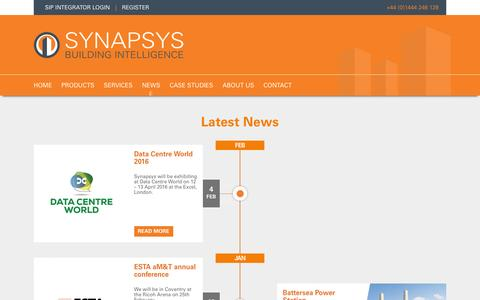 Screenshot of Press Page synapsys-solutions.com - News | Synapsys Solutions - captured Feb. 17, 2016
