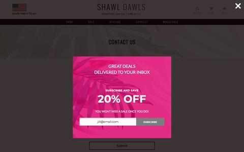 Screenshot of Contact Page shawldawls.com - Contact - Shawl Dawls - captured July 26, 2018