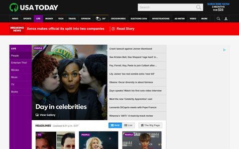 Screenshot of Team Page usatoday.com - Celebrity Photos, Videos and Interviews - USATODAY.com - captured Jan. 29, 2016