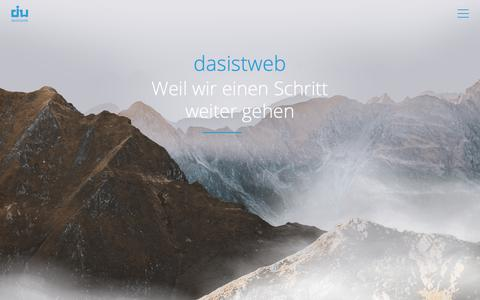 Screenshot of Home Page dasistweb.de - e-commerce & web experts | dasistweb GmbH, Shopware Enterprise Partner Holzkirchen (München) - captured Dec. 19, 2018