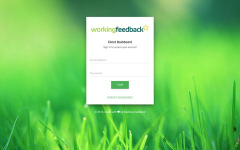 Screenshot of Login Page workingfeedback.co.uk - Login | Working Feedback - captured Oct. 20, 2018