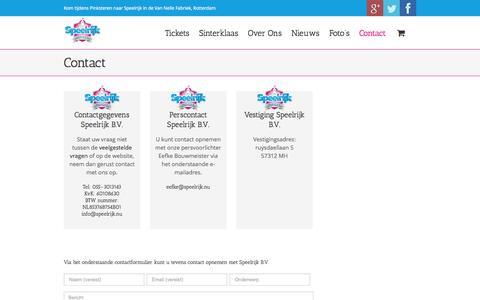 Screenshot of Contact Page speelrijk.nu - Contact - Speelrijk - captured Oct. 9, 2014