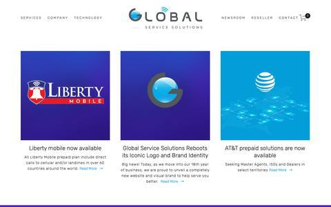 Screenshot of Press Page gotprepaid.com - Newsroom — Global - captured Nov. 10, 2018