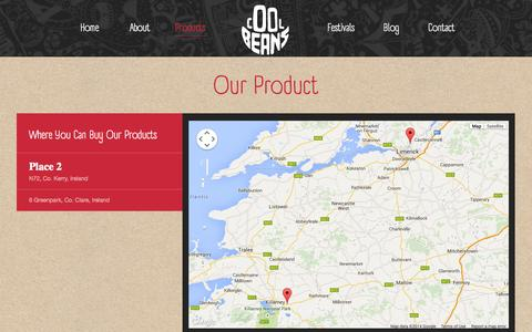 Screenshot of Products Page coolbeans.ie - Products - Cool Beans - captured Nov. 3, 2014