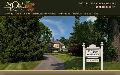Screenshot of Contact Page Maps & Directions Page theoaksvictorianinn.com - Bed and Breakfast Alternative to Hotels in Christiansburg VA - captured Sept. 25, 2018