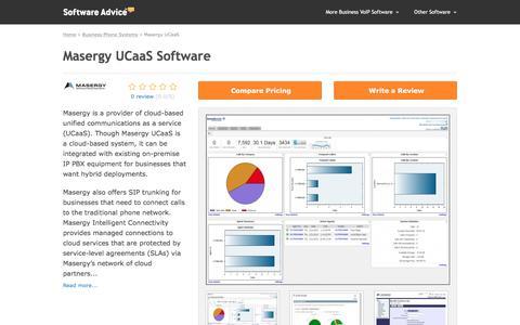 Masergy UCaaS Software - 2017 Reviews, Demo & Pricing