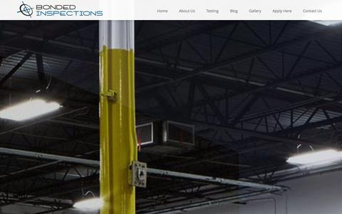 Screenshot of Home Page bondedinspections.com - Bonded Inspections- Non-Destructive Testing in Dallas,Texas - captured Sept. 30, 2014