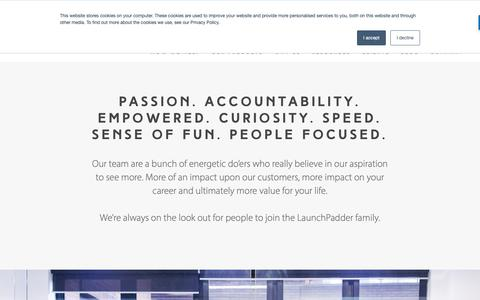 Screenshot of Jobs Page launchpadrecruits.com - We Make HR Software for Employer Branding & Talented Employee Acquisition | Careers at LaunchPad - captured Nov. 4, 2018