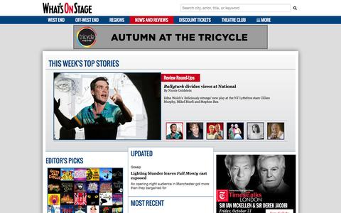 Screenshot of Press Page whatsonstage.com - London Theatre News, Reviews, Interviews and more | WhatsOnStage - captured Sept. 23, 2014