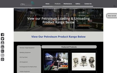 Screenshot of Products Page candnpetroleum.co.za - Products C and N - captured Sept. 25, 2018