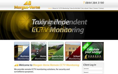 Screenshot of Home Page morgan-verne.com - CCTV Monitoring | CCTV Remote Monitoring | Remote Monitoring CCTV | Morgan-Verne | Security - captured Oct. 9, 2014
