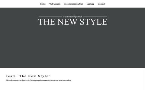 Screenshot of Team Page thenewstyle.nl - E-commerce Team - captured Oct. 7, 2014