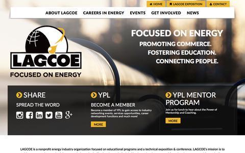 Screenshot of Home Page lagcoe.com - LAGCOE | Home - captured Oct. 1, 2016