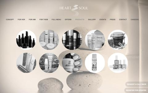 Screenshot of Products Page heartandsoul.ae - Spa Products | Heart & Soul - captured March 31, 2016
