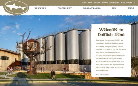 Screenshot of Home Page dogfish.com - Dogfish Head Craft Brewed Ales | Off Centered Stuff For Off Centered People | - captured Nov. 24, 2016