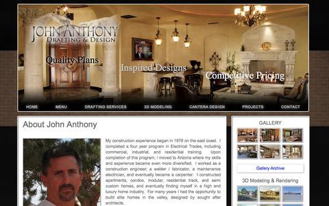 Screenshot of Menu Page jadrafting.com - Draftsman Profile Arizona | About Arizona JA Drafting and Design - captured Oct. 3, 2014