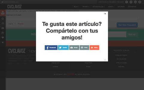 Screenshot of Login Page cvclavoz.com - Log In | CVCLAVOZ - captured Dec. 3, 2015