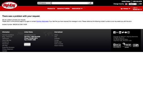 Screenshot of Blog digikey.com - Invalid Request - captured July 31, 2017
