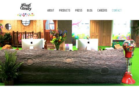 Screenshot of Contact Page mindcandy.com - Mind Candy - captured July 20, 2014